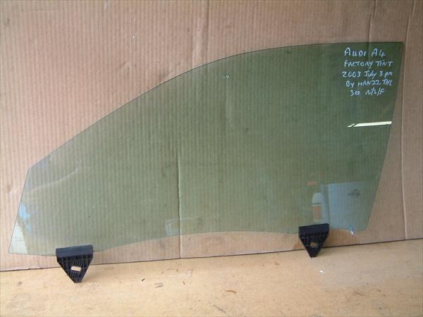 AUDI A4 B6 01-05 DOOR WINDOW DROP GLASS PASSENGER LEFT FRONT