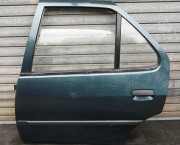 1994 EARLY PEUGEOT 306 MK1 FULL DOOR LH LEFT PASSENGER REAR MOSB GREEN NEXT DAY