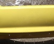 2001-2005 MG ZR ROVER 25 REAR BUMPER IN YELLOW - FREE NEXT DAY