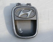 2010 Hyundai i10 tailgate boot hatch outer handle - metallic grey
