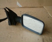 Fiat Cinquecento black plasic offside right door mirror - manual adjust