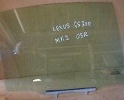 Lexus GS300 Mk2 98-05 OSR right rear door WINDOW DROP GLASS