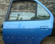 PEUGEOT 306 MK1 DOOR LEFT LH NEARSIDE REAR MOMY MIAMI BLUE INC WINDOW MOTOR