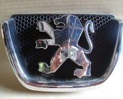 Peugeot 206 2009 front  chrome badge Part number 9628688677