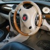 ROVER 75 CONNOISSEUR FACELIFT WOOD & SMOKESTONE GREY LEATHER STEERING WHEEL