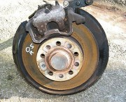 SKODA OCTAVIA MK2 1Z 1.6 FSI REAR O/S COMPLETE HUB CALIPER BEARING ABS- NEXT DAY