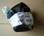 Vauxhall Astra C Mk3 Nearside (Left) front seatbelt Part number 90286921